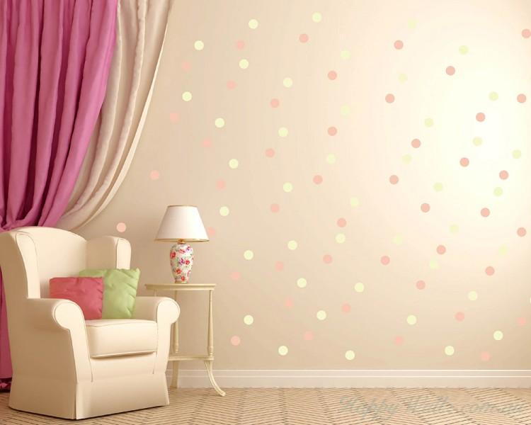 Elegant Polka Dots Wall Decal Part 32