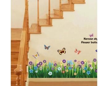 Butterfly U0026 Grass Flowers Wall Border Part 90