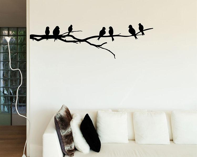 bird wall stickers singing birds vinyl wall art decals large geometric triangle vinyl wall stickers