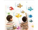 Fish & Bubble Undersea World Wall Sticker