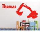 Customised Name with Digger - Personalised Boy Name
