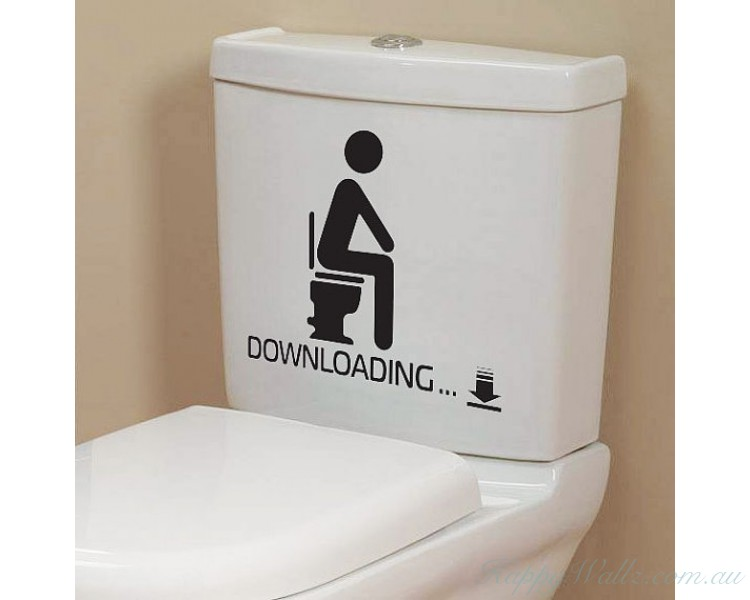 Superieur Downloading   Funny Bathroom Toilet Decals