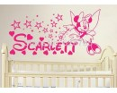 Mouse Fair Sticker, Personalised Name With Stars