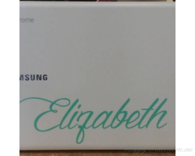 Name sticker, macbook Decal,  laptop sticker, initials, nursery decals, custom name,