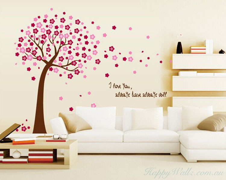 Flower Tree With Love Quotes