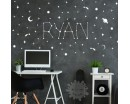 Personalized Name and Galaxy Stars Decals
