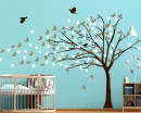 Blowing Tree With Butterflies Wall Decal