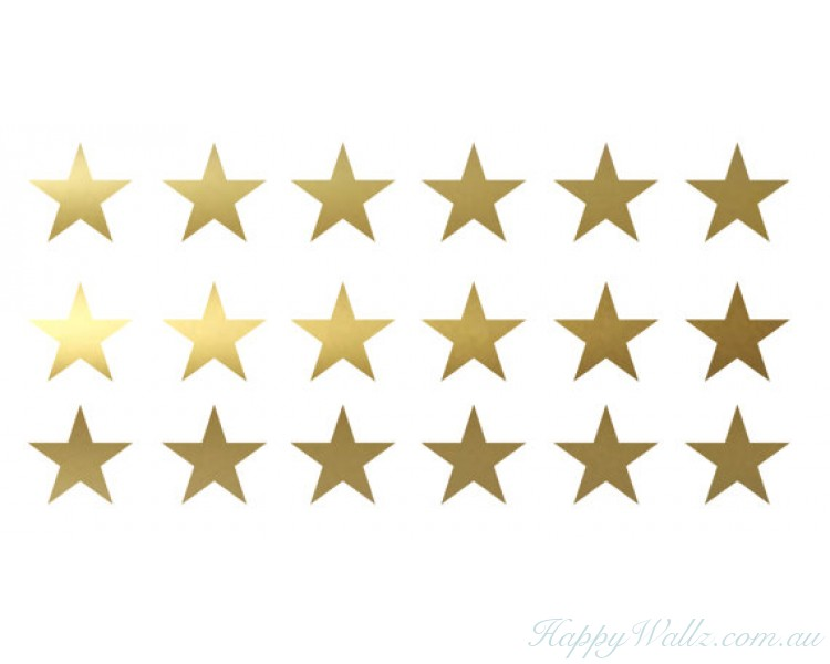 Gold Stars Decal Set, Gold Confetti Stars