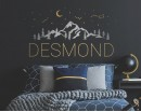 Custom Name with Moon Stars and Mountains Decal