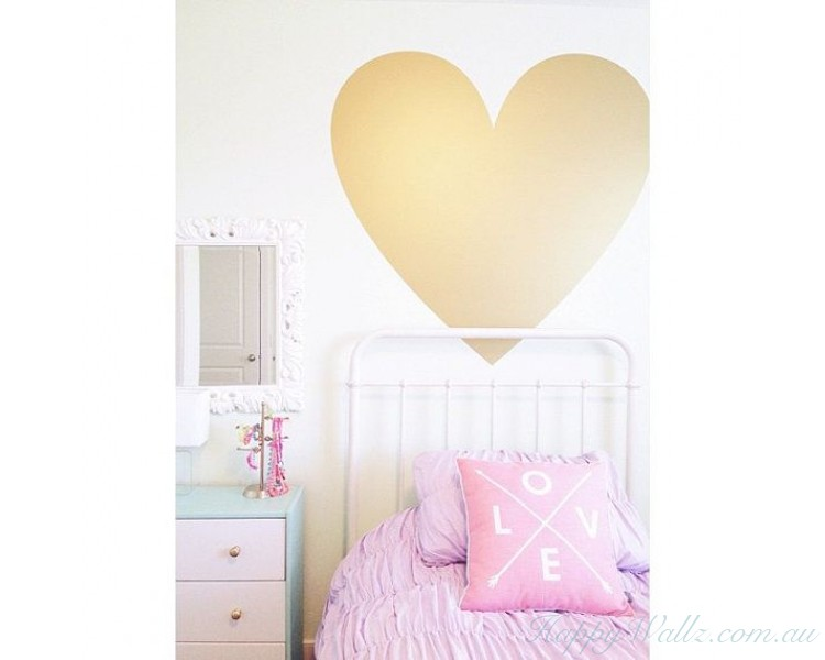 gold heart decals, gold confetti hearts stickers