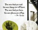 Read and Learn -- Dr. Seuss Motivational Quotes