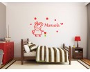 Personalized Children Name with Pig Silhouette Wall Decal