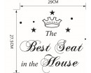 The Best Seat Decal Bathroom Toilet Sticker