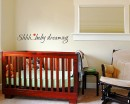 Shhh...Baby Dreaming - Nursery Room Door Decal