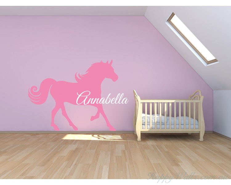 Personalised Name with Horse Wall Decal