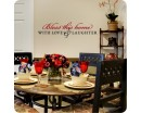 """Bless this home with Love & Laughter.""  Family Quotes Wall Decal Family Vinyl Art Stickers"