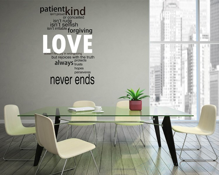 This wall decal is a kind of quote wall decal-Love Quotes Wall Decal Love Vinyl Art Stickers