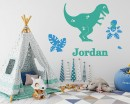 T-Rex Dinosaur Wall Decal with Personalized Name