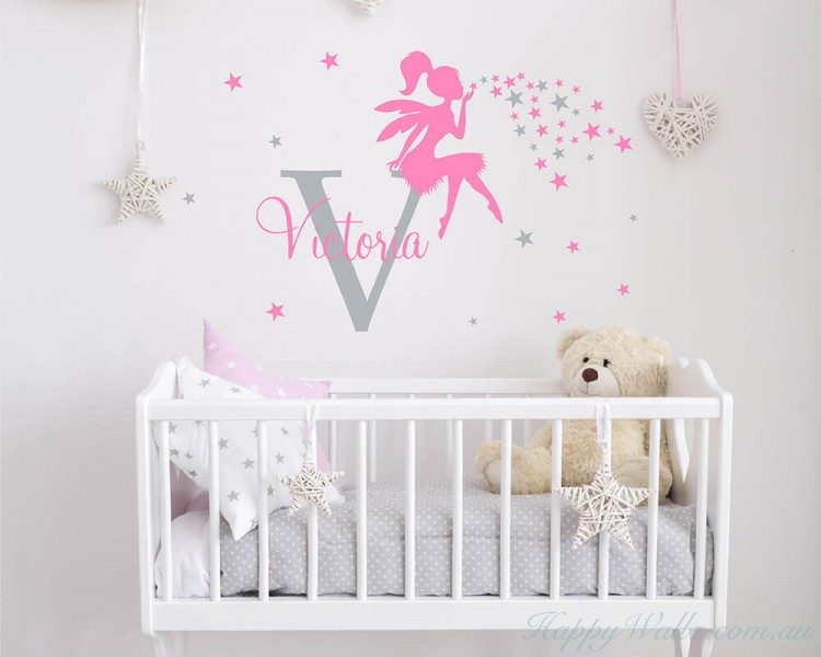 Fairy with Name Costom Decal