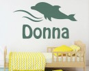 Dolphin with Name Decal