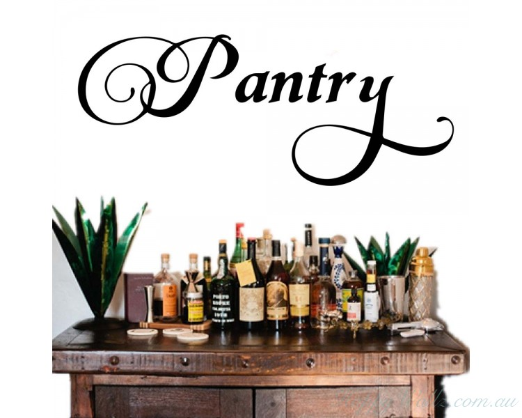 Pantry Wall Decal Pantry Label