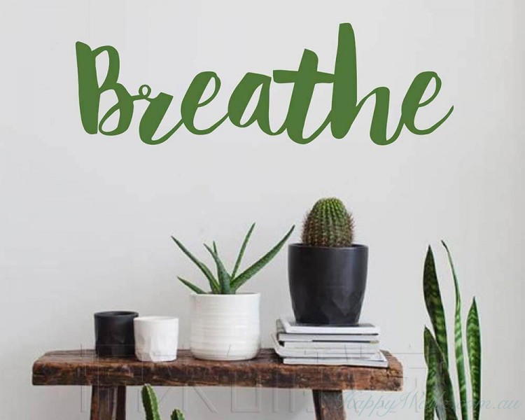 Breathe Motivational Words Decal