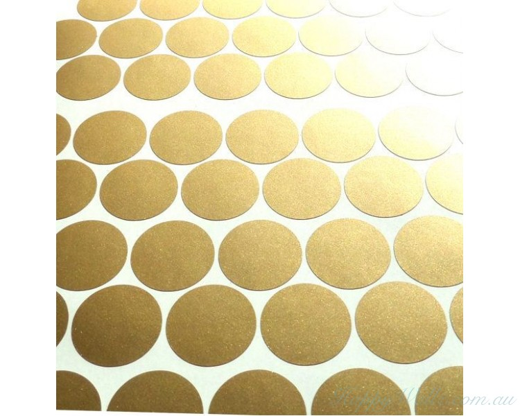 Gold polka dots spots wall sticker