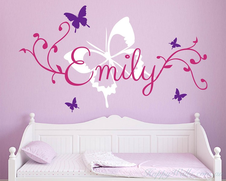 Butterfly Personalised Name Wall Sticker