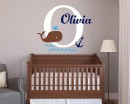 Baby Whale Personalised Wall Decal
