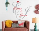 Custom Couple Monogram Names Decal