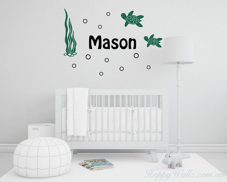 Turtles Nursery Custom Decal