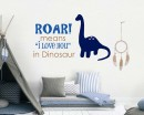 Roar means I love you Dinosaur Wall Decal
