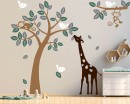 Monkey Giraffe and Birds Tree Set