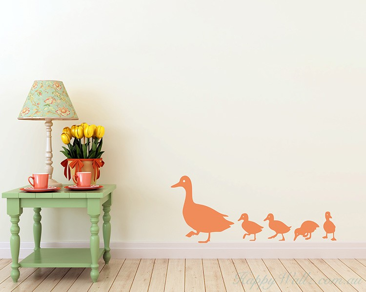 Ducks Family Wall Decal  For Children