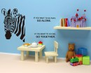 Zebra Decal Lovely Animal Stickers For Kids