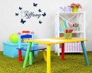 Butterflies with Customised Name Decal