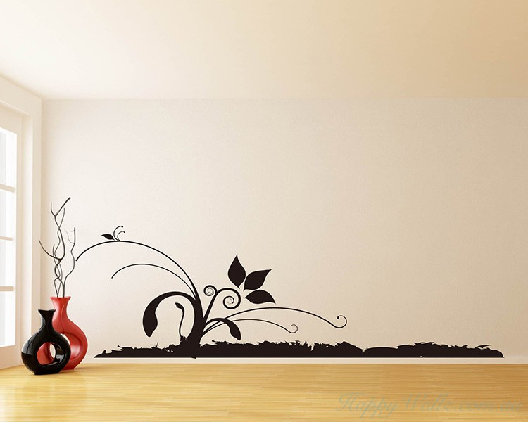 Wall Border Floral Vines  Decals Modern Wall Art