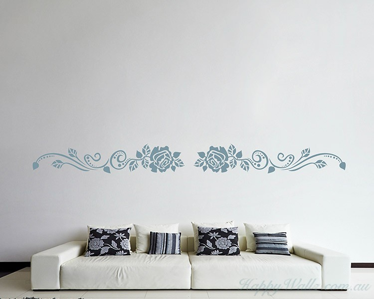 Ordinaire Rose Flower Wall Border Decal