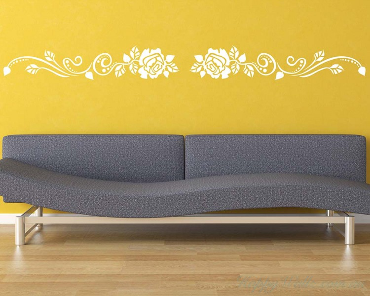 Merveilleux Rose Flower Wall Border Decal