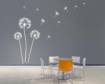 205f56672a Flower Wall Stickers | Flower Pattern Vinyl Decals,Butterfly ...