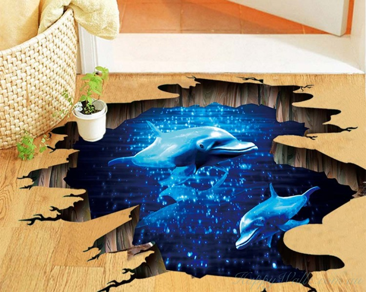 Ocean Dolphin Removable Sticker