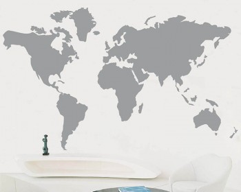 World map wall decals vinyl wall art stickers map of the world wall art sticker publicscrutiny Images
