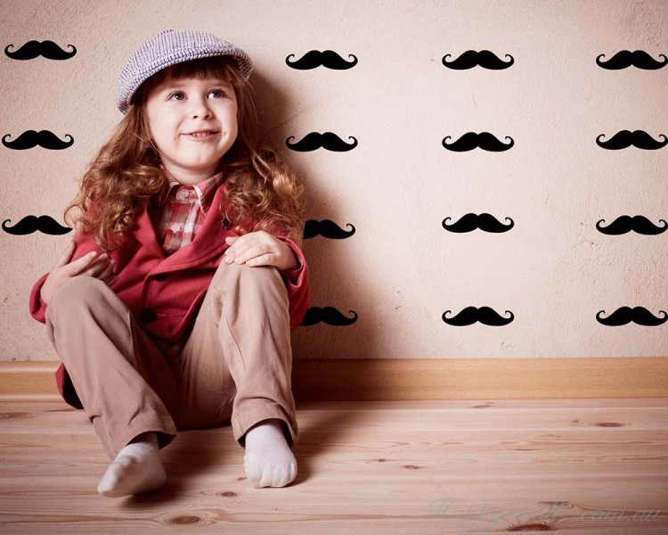 Mustache Pattern Wall Decal