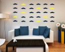 Mustache Pattern Wall  Sticker