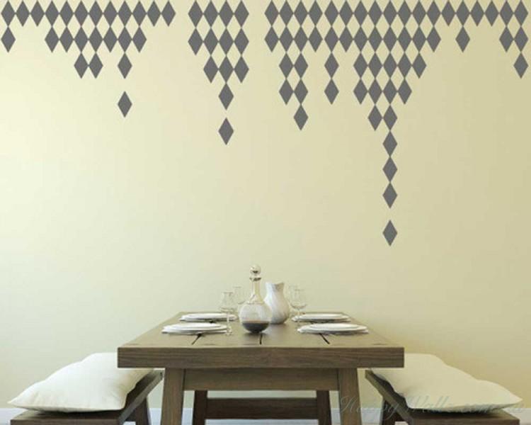 Rhombus Pattern Wall Decal