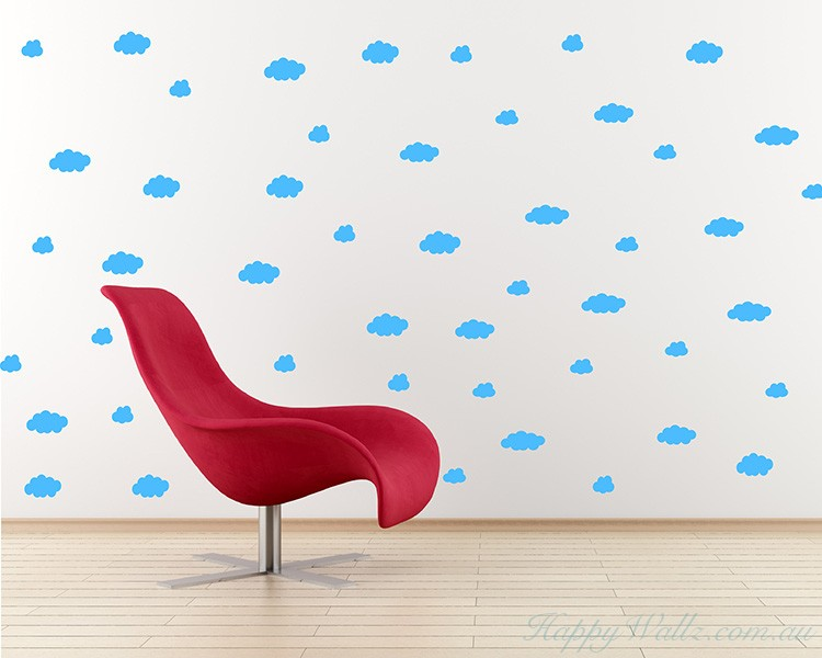 Clouds Pattern Wall  Sticker