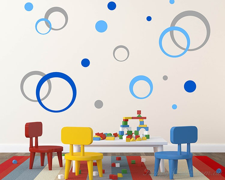 Concentric Circles Wall  Stickers