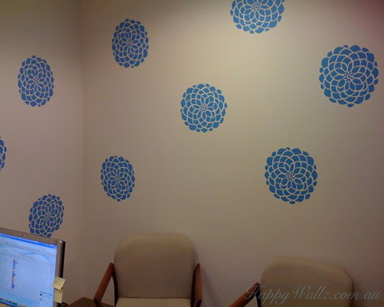 Damask Wall Pattern  Art Stickers