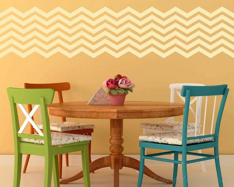 6 Chevron Stripes Wall Decal