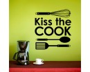 Kiss the Cook  Quotes Wall Art Stickers